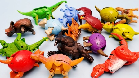 超多恐龙来集合咯 霸王龙食肉牛龙剑龙都来了