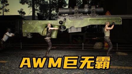吃鸡新武器:自制的AWM巨无霸大炮,了解一下!