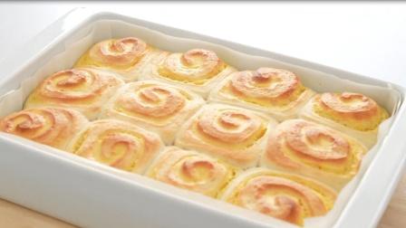 一款令人惊奇的甜点:卡仕达面包卷,免费教程给你了