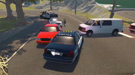警察模拟器:在高速公路上抓捕了一名醉酒飙车的司机