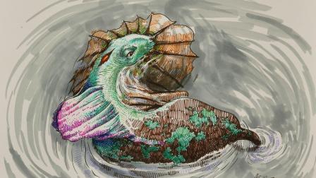 胡思乱画:荷塘里发现的奇怪动物