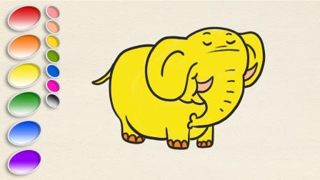动物简笔画,画一头可爱的大象!