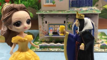 贝儿想要新衣服,王后会答应给她买吗?