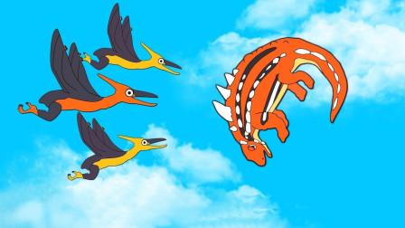 侏罗纪小恐龙互相帮助获得食物