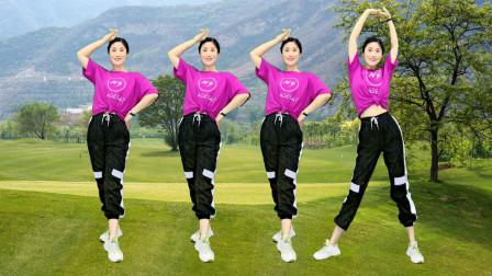 火爆广场舞《映山红》舞步新颖,燃脂瘦身,80后辣妈跳出好身材!