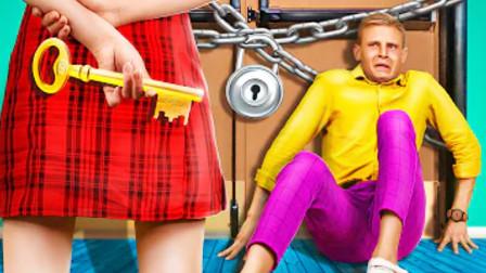 美女为了追求男神,将他和自己一起锁在学校里,全程造作不停!