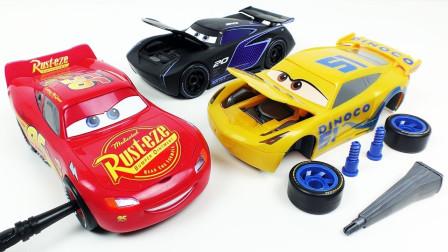 汽车零件组装赛车总动员小汽车