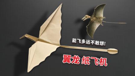"""""""翼龙""""纸飞机你会折吗?飞的又远又稳,看一遍就能学会!"""