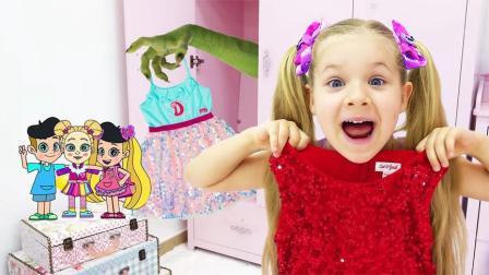 小女孩的裙子都不翼而飞了,是谁把她的裙子都偷走了呢