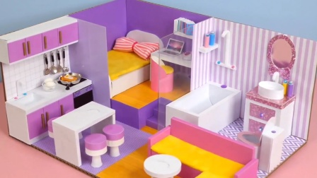 DIY迷你小屋:打造粉色梦幻小屋 小美女真喜欢
