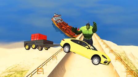 车祸模拟器:开车能成功飞到鲨鱼口中的人就是赢家了