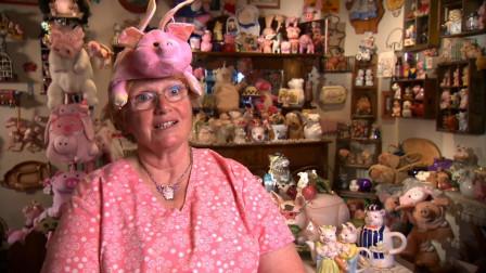 纪录片:老人对猪情有独钟,逼老伴听猪故事,收集6000多个玩具猪