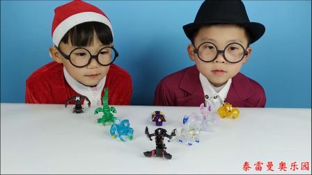 少儿玩具:小泽和哥哥一起用盟卡车神玩具对战