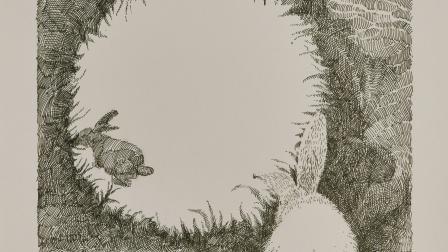 钢笔画:发现月亮上的兔子