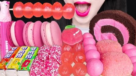打动少女心的粉色甜点,口味丰富造型精致,一眼就会爱上