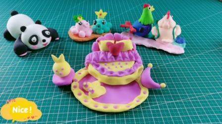 黏土手工:可爱Q萌的公主床,捏出来真的好漂亮