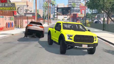 车祸模拟器:村口马路出现两个大坑村民的车都掉进去了