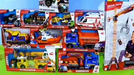 汽车玩具视频;展示汽车工程车的用途.