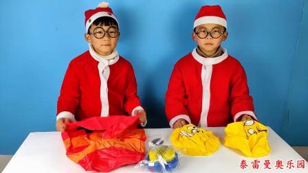 少儿玩具:小泽和哥哥玩毛毛虫不倒翁玩具
