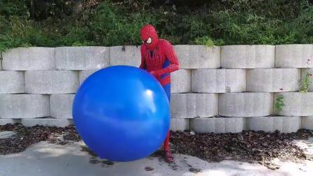 蜘蛛侠把气球套在头上玩了起来,最后却被打脸了