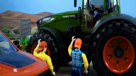儿童趣味益智玩具车:拖拉机被小石块绊坏了,怎么办?