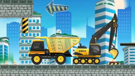 全能老司机模拟游戏,驾驶挖掘机和自卸车