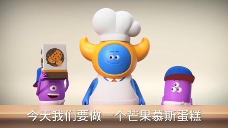 烘培的蓝胖子在认真做蛋糕