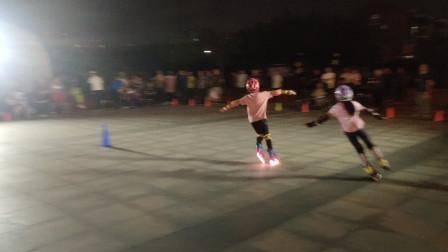 2021083002天津市侯台体育广场动感轮滑欣赏(35)