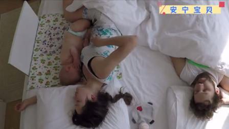 父母早上醒来累得不行,在卧室装了监控,记录床上全过程
