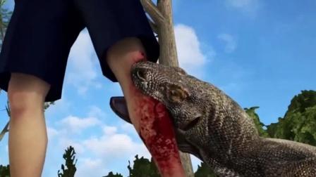 """要是被""""生吞""""整个猴子的科莫多巨蜥,咬一口,结果会怎样?"""