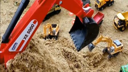儿童趣味益智玩具;挖掘机遭遇泥石流被埋, 需要救援?