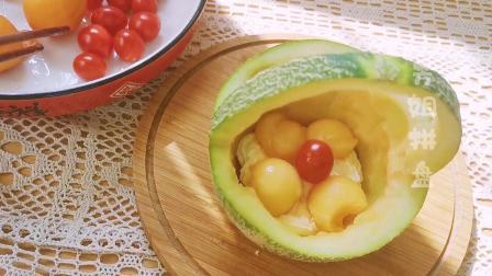 夏日炎炎来一份好看好吃的奶油水果花篮!