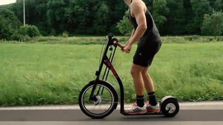 锻炼手臂的好帮手,依靠双手驱动的自行车,一边锻炼一边上班去