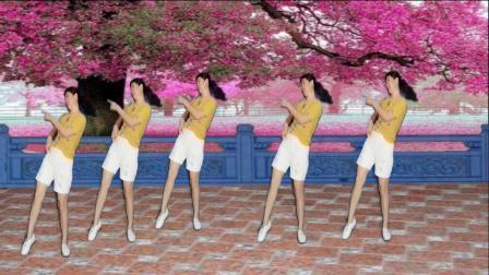 阿娜广场舞-心中有曲自然嗨-正面