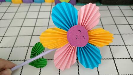 五彩花朵手工制作教程,送给老师做好的教师节礼物
