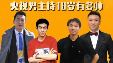 央视男主持18岁,朱广权撒贝宁帅过校草,康辉秒杀小鲜肉