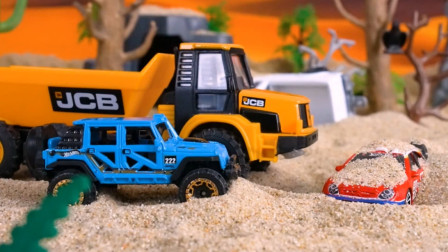 跑车遭遇沙尘暴掩埋,等待救援?
