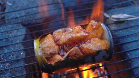 菠萝啤烤油豆腐,味道那叫一个香
