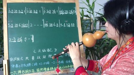 学唱谱《夫妻双双把家还》简谱,葫芦丝教学,第一课,视唱简谱