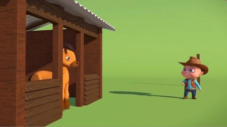 宝宝想骑马游玩,谁料却被马儿整蛊