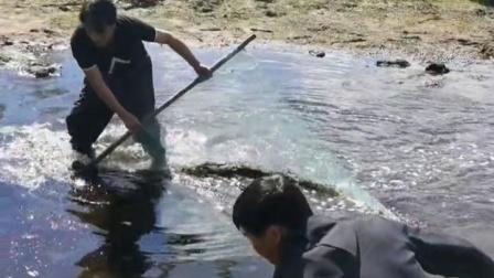 哥俩抬鱼爆网了,抓到这么多老头鱼。