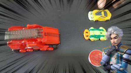爆裂飞车玩具开箱:玲珑熊,毒纹蜥,震地猛犸,闪电神雕