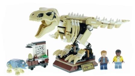 乐高积木:侏罗纪世界系列76940霸王龙化石展览