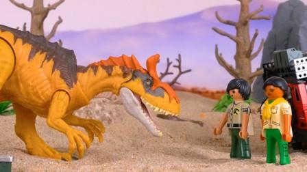 儿童趣味玩具, 越野车救受了伤的恐龙?