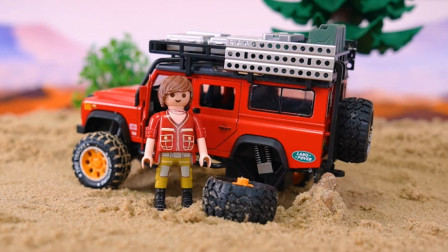 趣味益智玩具, 越野车在沙漠中行使出意外了?