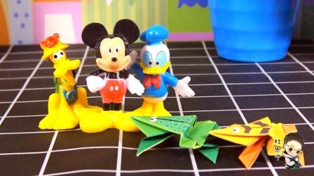 米奇带你学折纸系列之小跳蛙