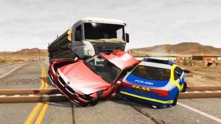 车祸模拟器:修了一条铁路结果路面不平导致路过的车辆都报废了