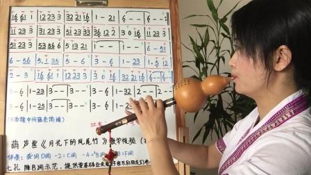 《月光下的凤尾竹》抒情版,葫芦丝教学,第四课,步骤详解