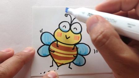 简笔画.可爱的小蜜蜂