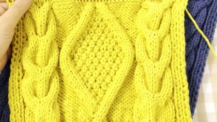 好看到尖叫的围巾编织花样 真的YYDS!
